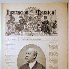 Libros antiguos: ILUSTRACIÓN MUSICAL HISPANO-AMERICANA. AÑO II. NÚMERO 2 - 27 ENERO - BARCELONA 1889. Lote 139151282