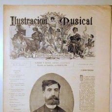 Libros antiguos: ILUSTRACIÓN MUSICAL HISPANO-AMERICANA. AÑO II. NÚMERO 3 - 10 FEBRERO - BARCELONA 1889. Lote 139151286
