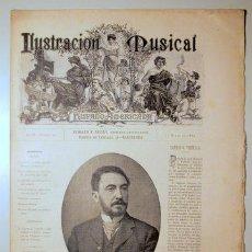 Libros antiguos: ILUSTRACIÓN MUSICAL HISPANO-AMERICANA. AÑO II. NÚMERO 29 - 24 MARZO - BARCELONA 1889. Lote 139151406