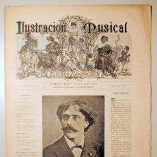 Libros antiguos: ILUSTRACIÓN MUSICAL HISPANO-AMERICANA. AÑO II. NÚMERO 30 - 9 ABRIL - BARCELONA 1889. Lote 139151410