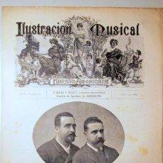 Libros antiguos: ILUSTRACIÓN MUSICAL HISPANO-AMERICANA. AÑO II. NÚMERO 32 - 7 MAYO - BARCELONA 1889. Lote 139151418