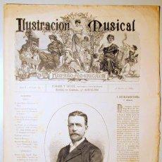 Libros antiguos: ILUSTRACIÓN MUSICAL HISPANO-AMERICANA. AÑO II. NÚMERO 33 - 21 MAYO - BARCELONA 1889. Lote 139151422