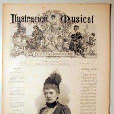 Libros antiguos: ILUSTRACIÓN MUSICAL HISPANO-AMERICANA. AÑO II. NÚMERO 34 - 4 JUNIO - BARCELONA 1889. Lote 139151426