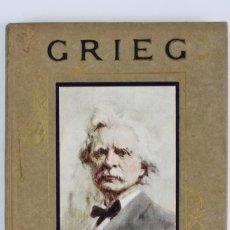 Libros antiguos: L-331.GRIEG DAYS WITH THE GREAT COMPOSERS.POR M.C. GILLINGTON.ED HODDER & STOUGHTON. AÑO 1913. Lote 139815594