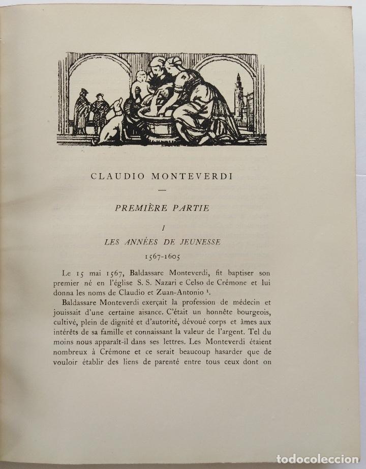 Libros antiguos: HENRY PRUNIÈRES: LA VIE ET L'OEUVRE DE CLAUDIO MONTEVERDI. 1ª EDICIÓN FRANCESA (PARÍS, 1926) - Foto 7 - 140723346