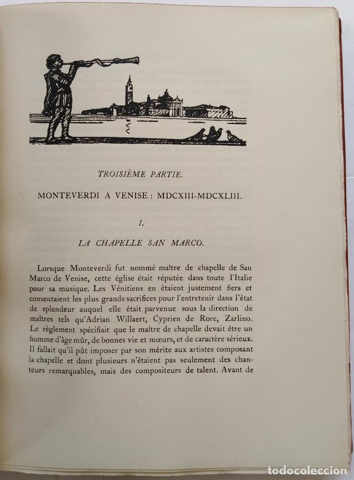 Libros antiguos: HENRY PRUNIÈRES: LA VIE ET L'OEUVRE DE CLAUDIO MONTEVERDI. 1ª EDICIÓN FRANCESA (PARÍS, 1926) - Foto 12 - 140723346