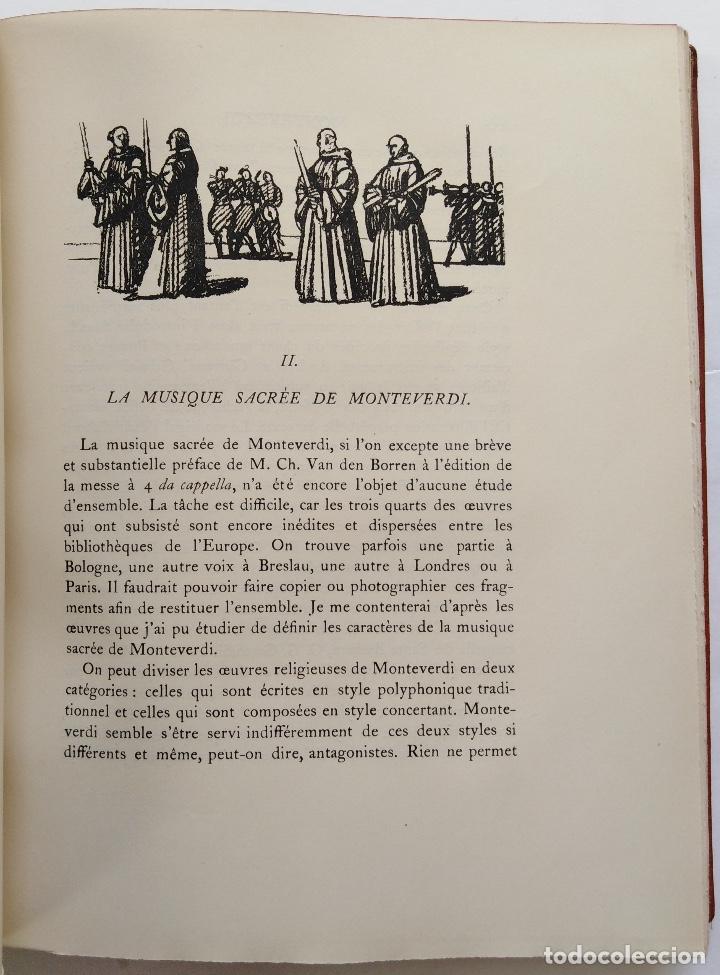 Libros antiguos: HENRY PRUNIÈRES: LA VIE ET L'OEUVRE DE CLAUDIO MONTEVERDI. 1ª EDICIÓN FRANCESA (PARÍS, 1926) - Foto 13 - 140723346