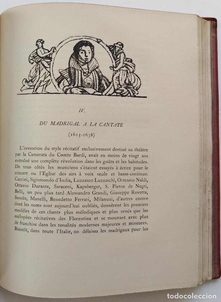 Libros antiguos: HENRY PRUNIÈRES: LA VIE ET L'OEUVRE DE CLAUDIO MONTEVERDI. 1ª EDICIÓN FRANCESA (PARÍS, 1926) - Foto 15 - 140723346