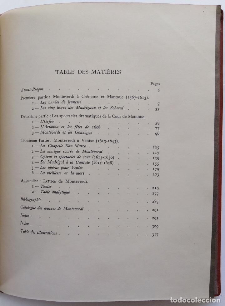 Libros antiguos: HENRY PRUNIÈRES: LA VIE ET L'OEUVRE DE CLAUDIO MONTEVERDI. 1ª EDICIÓN FRANCESA (PARÍS, 1926) - Foto 19 - 140723346