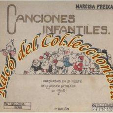Libros antiguos: CANCIONES INFANTILES (2A. SERIE) , NARCISA FREIXAS, ILUSTRACIONES DE TORNE-ESQUIULIBRERIA SUBIRANA, . Lote 141244398