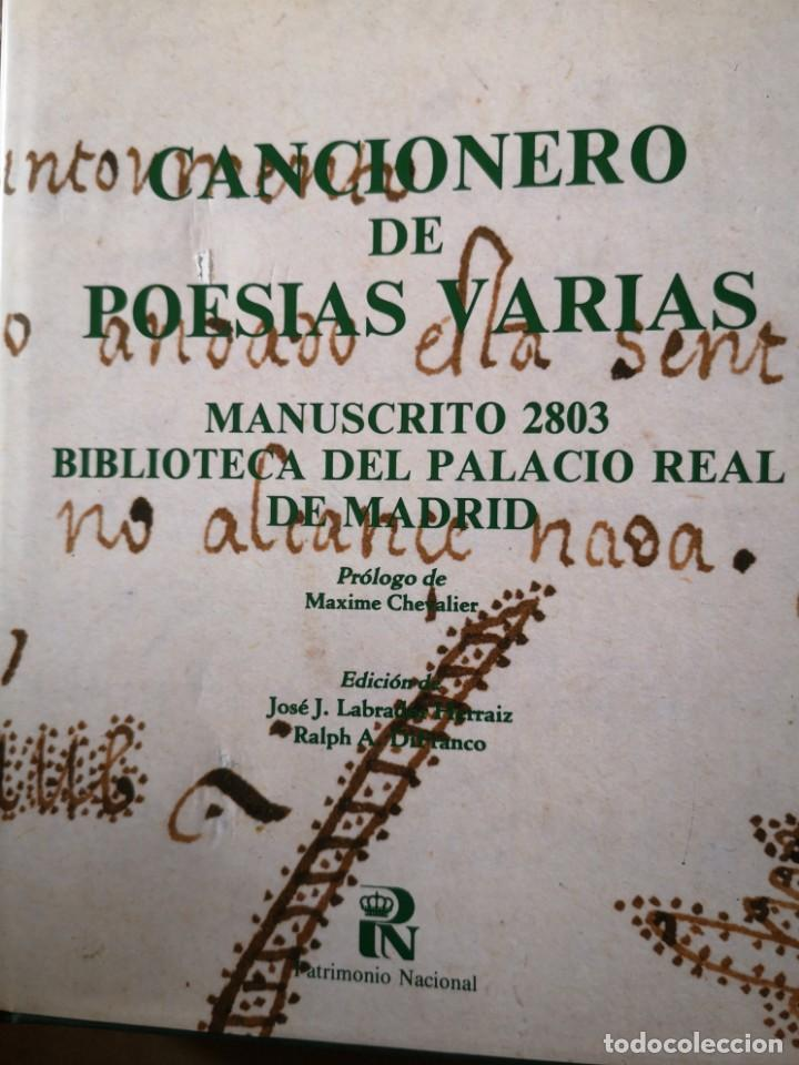 CANCIONERO DE POESÍAS VARIAS (Libros Antiguos, Raros y Curiosos - Bellas artes, ocio y coleccion - Música)