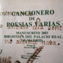 Libros antiguos: CANCIONERO DE POESÍAS VARIAS . Lote 144230782