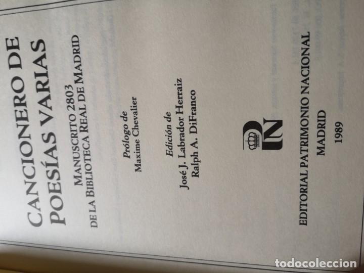 Libros antiguos: Cancionero de poesías varias - Foto 2 - 144230782