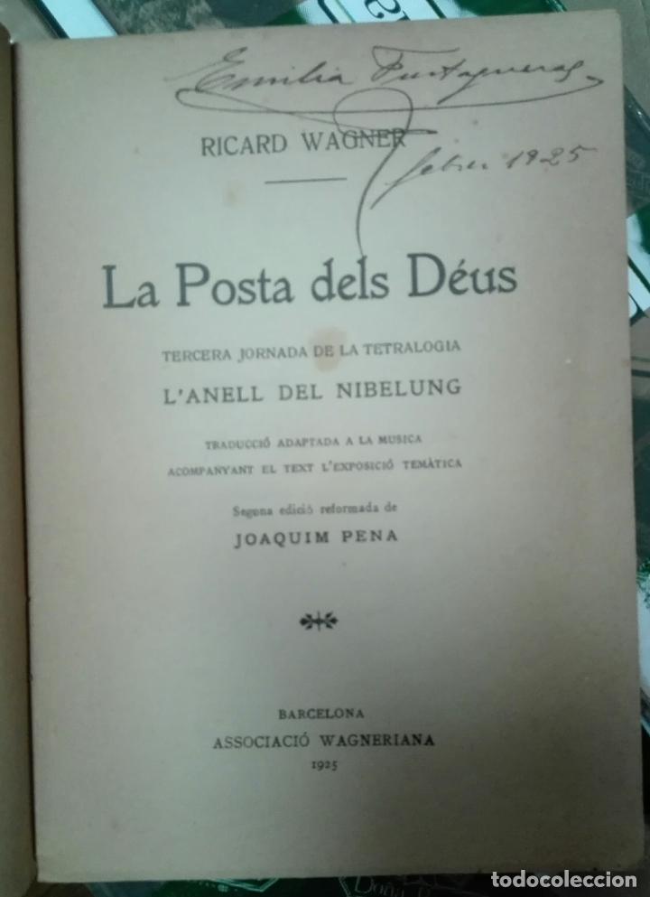 Libros antiguos: Wagner. L'Anell del Nibelung. La posta dels Déus. 1925 - Foto 2 - 144392522