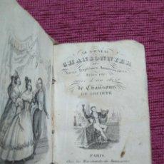 Libros antiguos: MINILIBRO. 1837. CANCIONERO EN FRANCÉS. . Lote 147548310