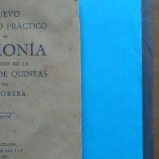 Libros antiguos: NUEVO TRATADO PRÁCTICO DE ARMONÍA POR E. MORERA . IMP. BAYER HNOS Y C. 1930. Lote 156098864