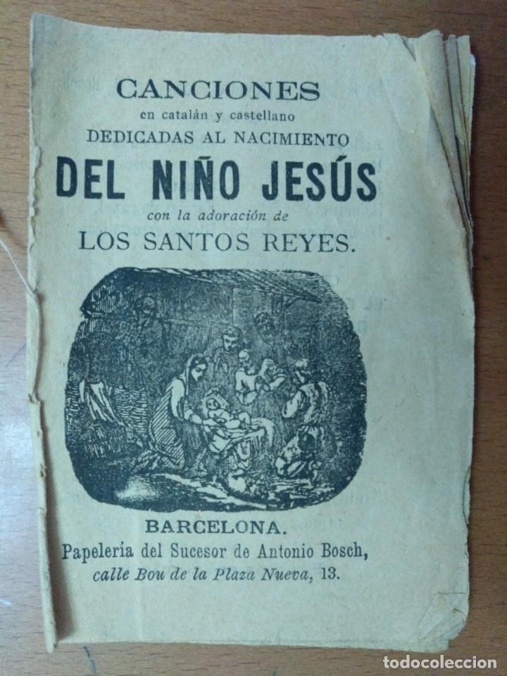 CANCIONES EN CATLAN Y CASTELLANO DEDICADAS AL NACIMIENTO DEL NIÑO JESUS. BARCELONA 1869 (Libros Antiguos, Raros y Curiosos - Bellas artes, ocio y coleccion - Música)