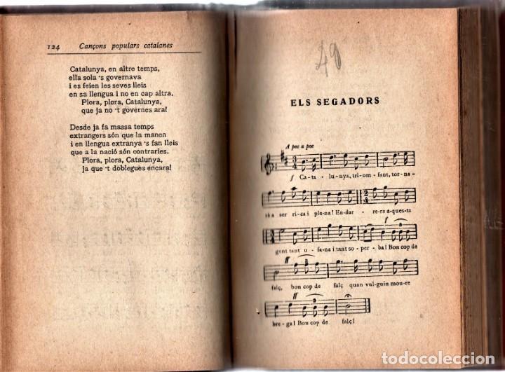 ANTIGUO LIBRO CANÇONS POPULARS,CATALUÑA,AÑO 1914,EN CATALAN,MUCHOS TEMAS MUSICA,ELS SEGADORS... (Libros Antiguos, Raros y Curiosos - Bellas artes, ocio y coleccion - Música)