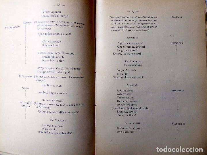 Libros antiguos: PR-118. RICART WAGNER. SIEGFRIED. 2ª JORNADA DE L'ANELL DEL NIBELUNG. 1904. ASSOCIACIÓ WAGNERIANA - Foto 7 - 165569264