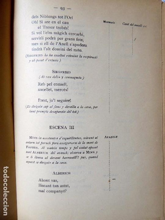 Libros antiguos: PR-118. RICART WAGNER. SIEGFRIED. 2ª JORNADA DE L'ANELL DEL NIBELUNG. 1904. ASSOCIACIÓ WAGNERIANA - Foto 8 - 165569264