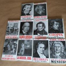Libros antiguos: 10 LIBROS DE MÚSICA DE 1955. EDICIONES AVE. 2ª EDICIÓN. TRADUCCIÓN JOSÉ Mª BORRÁS. Lote 197311625