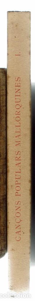 Libros antiguos: CANÇONS POPULARS MALLORQUINES, POR FRANCESC DE BORJA MOLL CASASNOVAS. AÑO 1934. (MENORCA.3.2) - Foto 3 - 159957134