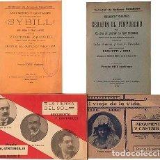 Libros antiguos: 4 ARGUMENTOS Y CANTABLES (ZARZUELAS, OPERETAS) 1911-1915. (VER INDICE). Lote 162655906