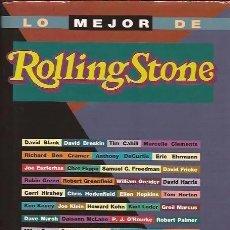 Libros antiguos: LO MEJOR DE ROLLING STONE * LIBRO TAPAS DURAS 587 PÁGINAS. Lote 99112451