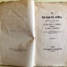 Libros antiguos: MURCIA- ZARZUELA- JOSE SELGAS- EMILIO ARRIETA- DE TAL PALO TAL ASTILLA- MADRID 1.864. Lote 163364026