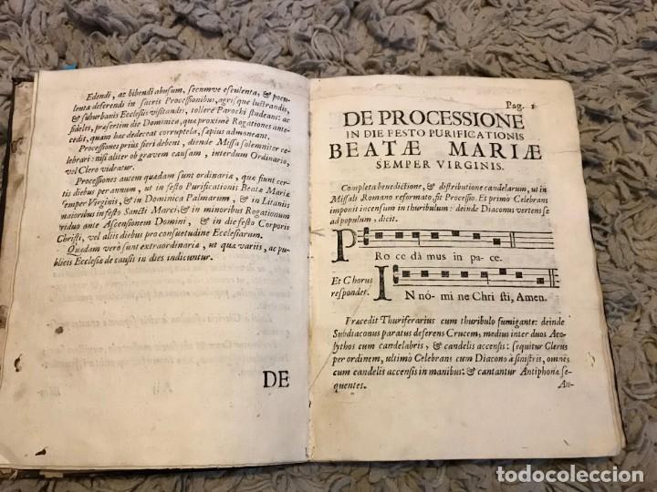 Libros antiguos: Gregoriano. Lisboa. 1734. Processionale Juxta Formam Ritualis Roamni, Pauli V. Pontificis Maximi - Foto 6 - 163800066