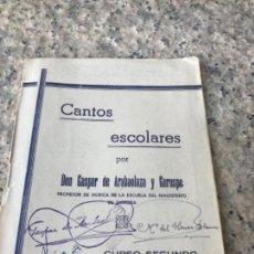Libros antiguos: MAGISTERIO, ZAMORA, CANCIONES. Lote 165507030