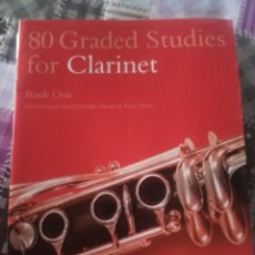 Libros antiguos: 80 GRADED STUDIES FOR CLARINET . Lote 166035114