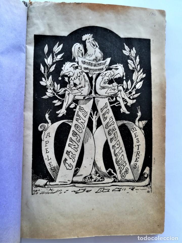 Libros antiguos: LIBRO MUSICA CATALANA SIGLO XIX,CANCIONES ILUSTRADAS,CANSONS ,AÑO 1879,DIBUJOS APELES MESTRES,LETRAS - Foto 2 - 168016904