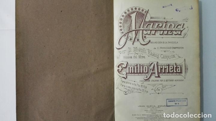 Libros antiguos: LIBRO MARINA, OPERA ESPAÑOLA EN 3 ACTOS, MUSICA DE D. EMILIO ARRIETA, AÑOS 20 - Foto 2 - 168280940