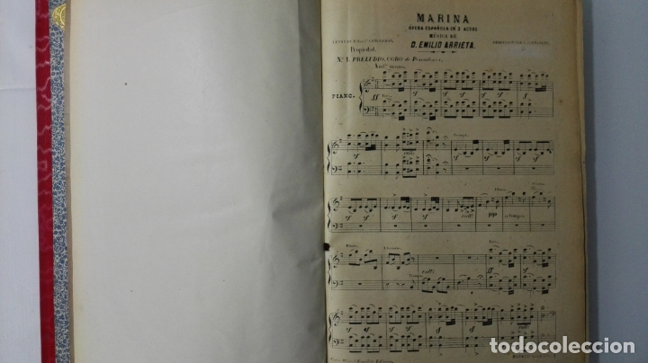 Libros antiguos: LIBRO MARINA, OPERA ESPAÑOLA EN 3 ACTOS, MUSICA DE D. EMILIO ARRIETA, AÑOS 20 - Foto 3 - 168280940