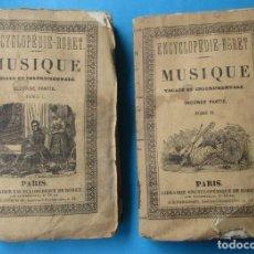 Libros antiguos: NOUVEAU MANUEL COMPLET DE MUSIQUE. 2 TOMOS. CHORON Y DE LAFAGE. PARIS 1838.299 Y 222 + 90 PÁGINAS.. Lote 168826728