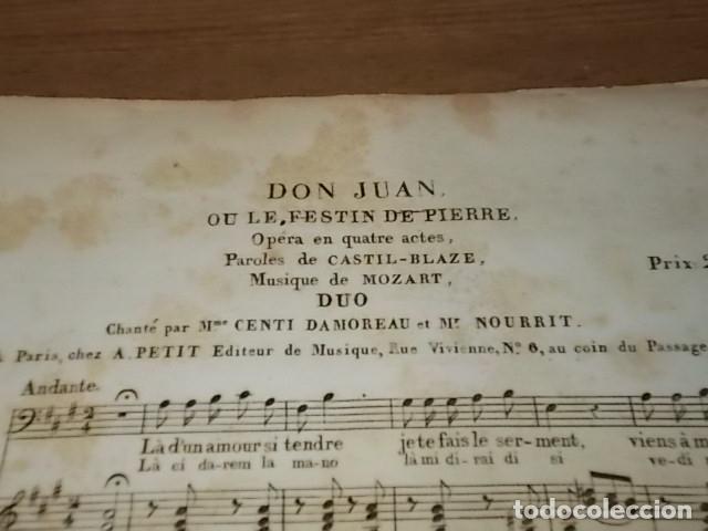 Libros antiguos: INCREÍBLES PARTITURAS GRABADAS EN PAPEL VERJURADO SIGLO XVIII DON JUAN . MÚSICA MOZART - Foto 7 - 170343464