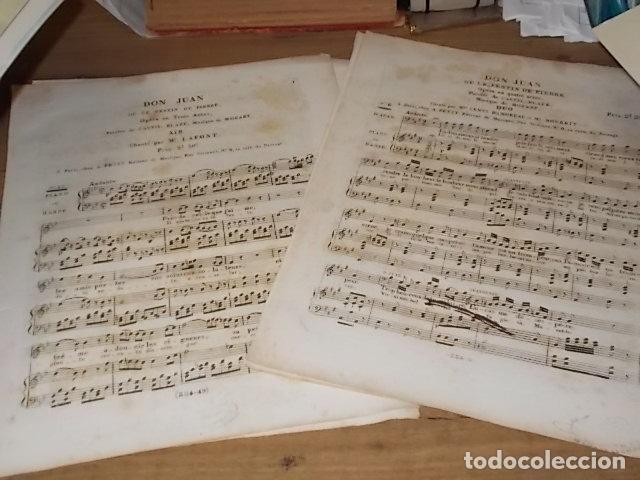 INCREÍBLES PARTITURAS GRABADAS EN PAPEL VERJURADO SIGLO XVIII DON JUAN . MÚSICA MOZART (Libros Antiguos, Raros y Curiosos - Bellas artes, ocio y coleccion - Música)