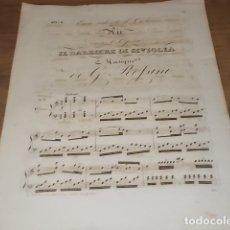 Libros antiguos: INCREÍBLE PARTITURA GRABADA EN PAPEL VERJURADO SIGLO XVIII DEL BARBERO DE SEVILLA. ROSSINI.. Lote 170343904