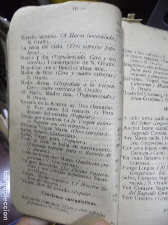 Libros antiguos: REPERTORIO MUSICO. SAL TERRAE. CANTOS RELIGIOSOS POPULARES. BILBAO. 1916 - Foto 2 - 95031927