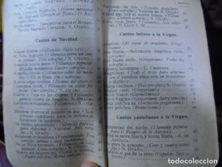 Libros antiguos: REPERTORIO MUSICO. SAL TERRAE. CANTOS RELIGIOSOS POPULARES. BILBAO. 1916 - Foto 4 - 95031927