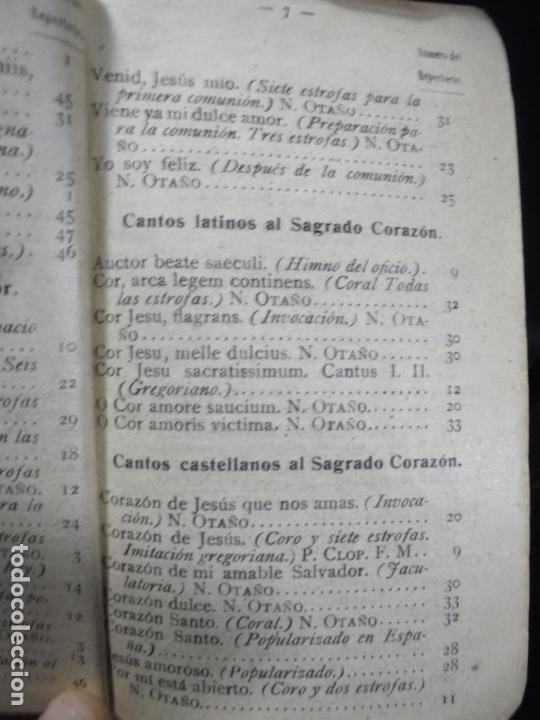 Libros antiguos: REPERTORIO MUSICO. SAL TERRAE. CANTOS RELIGIOSOS POPULARES. BILBAO. 1916 - Foto 7 - 95031927