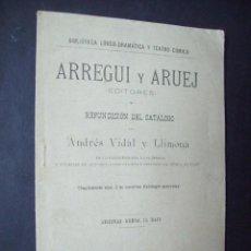 Libros antiguos: ARREGUI Y ARUEJ. CATALOGO OPERAS Y PROPIEDAD INTELECTUAL DE LA EPOCA. 1891. Lote 171771094