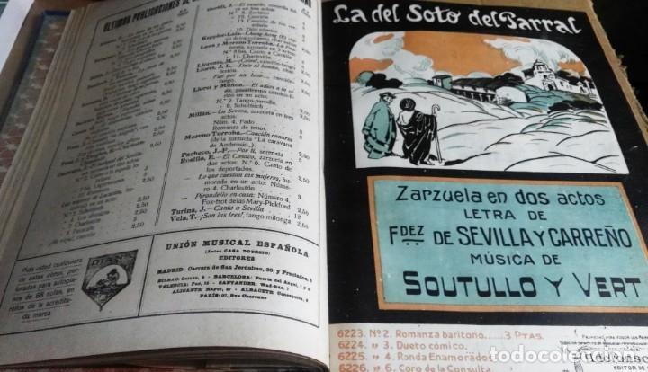 Libros antiguos: Recopilación de canciones encuadernadas. c. 1929. Música. Bailables y zarzuelas - Foto 7 - 172237023