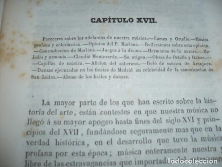 Libros antiguos: 2/ 4 TOMOS HISTORIA DE LA MUSICA ESPAÑOLA DESDE LOS FENICIOS HASTA 1850 MARIANO SORIANO 1856 MADRID - Foto 8 - 172576063