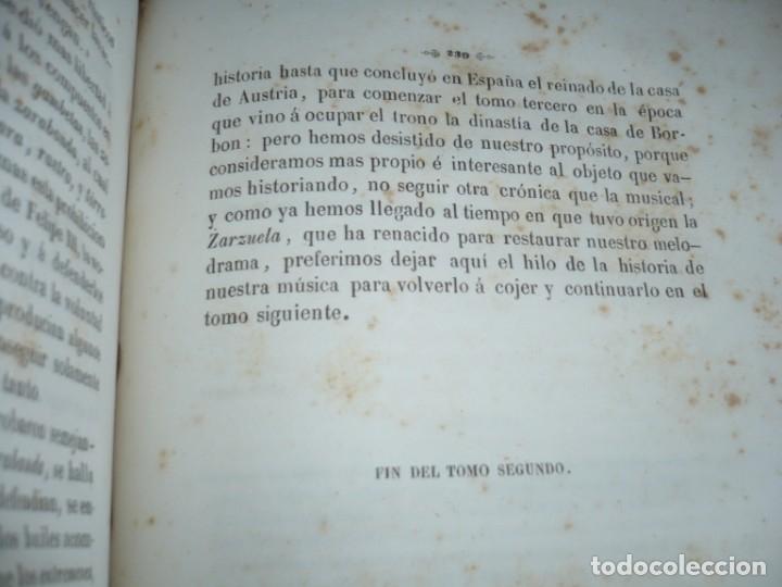 Libros antiguos: 2/ 4 TOMOS HISTORIA DE LA MUSICA ESPAÑOLA DESDE LOS FENICIOS HASTA 1850 MARIANO SORIANO 1856 MADRID - Foto 9 - 172576063