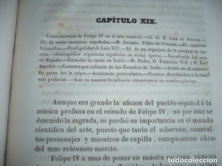 Libros antiguos: 2/ 4 TOMOS HISTORIA DE LA MUSICA ESPAÑOLA DESDE LOS FENICIOS HASTA 1850 MARIANO SORIANO 1856 MADRID - Foto 19 - 172576063