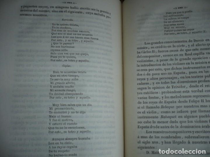Libros antiguos: 2/ 4 TOMOS HISTORIA DE LA MUSICA ESPAÑOLA DESDE LOS FENICIOS HASTA 1850 MARIANO SORIANO 1856 MADRID - Foto 20 - 172576063