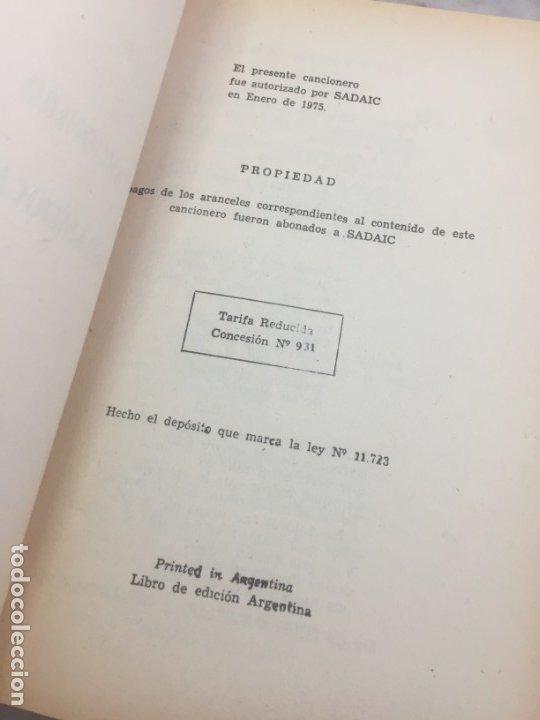 Libros antiguos: CARLOS GARDEL. CANCIONERO SUDAMERICANO.LIBRO 1976, tangos de la era dorada - Foto 3 - 175476437
