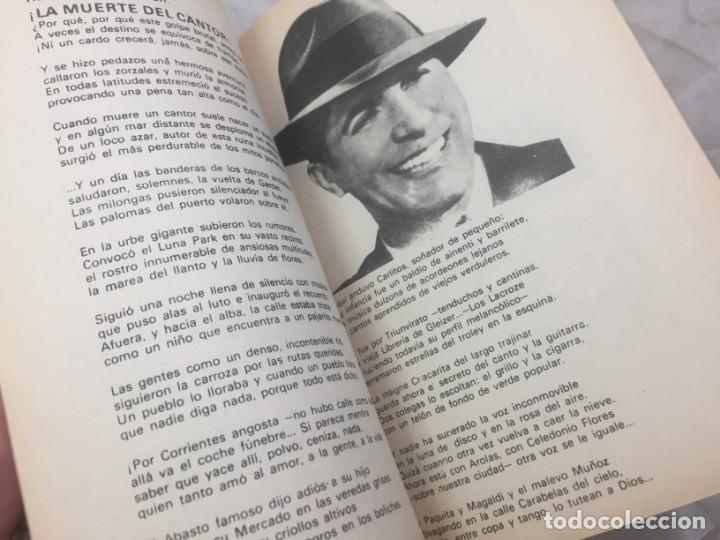 Libros antiguos: CARLOS GARDEL. CANCIONERO SUDAMERICANO.LIBRO 1976, tangos de la era dorada - Foto 7 - 175476437